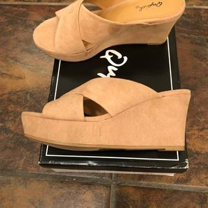 Qupid Wedge Sandal